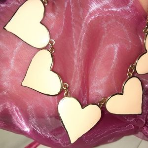 Heart Necklace with a bracelet